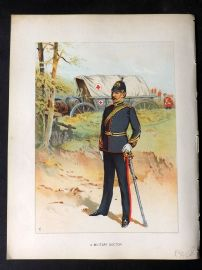 Richards Her Majesty's Army 1890 Military Print. A Military Doctor